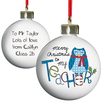 Exclusive Teachers Personalised Christmas Tree Bauble