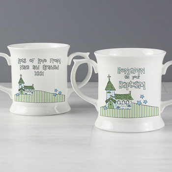 Church Personalised Loving Mug Pink or Blue