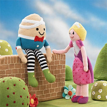Pebble Fair Trade Crocheted Humpty Dumpty Soft Toy