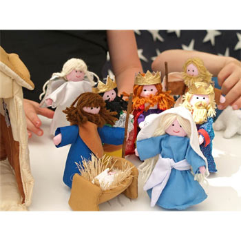 Fabric Nativity Set by Oskar and Ellen