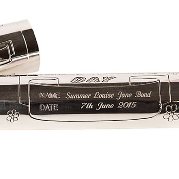 Engraved Christening Certificate Holder