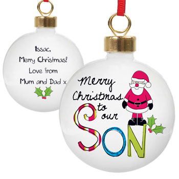 EXCLUSIVE - Son Personalised Christmas Tree Bauble