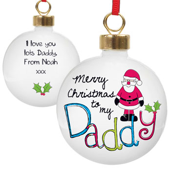 EXCLUSIVE - Daddy Personalised Christmas Tree Bauble