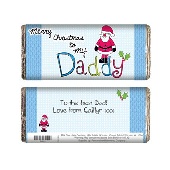 Exclusive Daddy Christmas Chocolate Bar