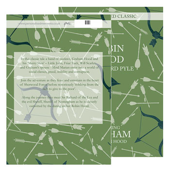 Personalised Robin Hood Novel - Free Delivery