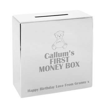 Engraved Money Box featuring Teddy