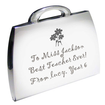 Personalised Teachers Handbag Compact Mirror
