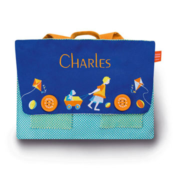 Embroidered Personalised Satchel Bag by Oiseau Bateau