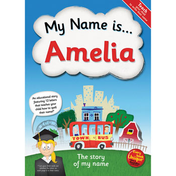 Personalised My Name Is Story Book