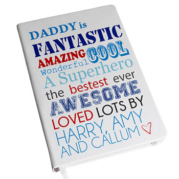 Daddy Is Hardbacked Personalised A5 Notebook