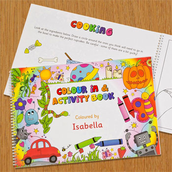 A4 Personalised Colour In Activity Book