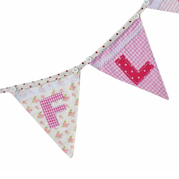 Personalised Name Bunting Pink Girl