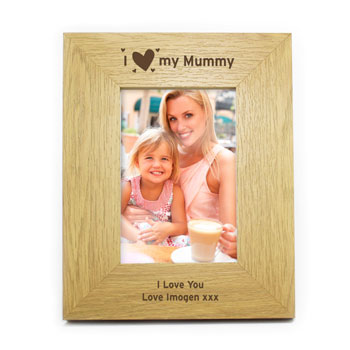I Heart My 6x4 Inch Personalised Oak Finish Frame