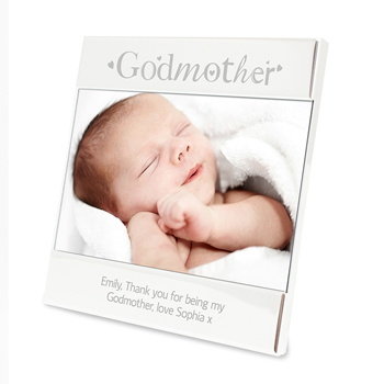 Engraved Silver Godmother Square 6 x 4 Frame