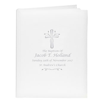 Personalised Silver Cross Photo Album with Sleeves