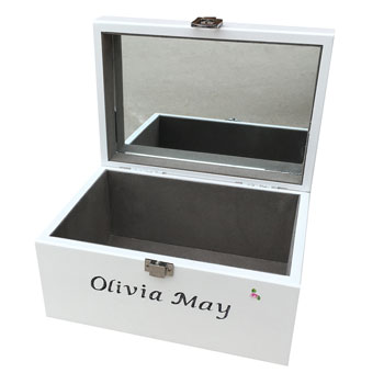 Personalised Christening Jewellery Box