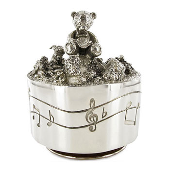 Teddy Bears Picnic Carousel by Royal Selangor in Blonde Box