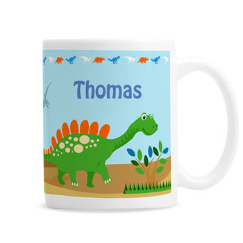 Personalised Ceramic Dinosaur Mug