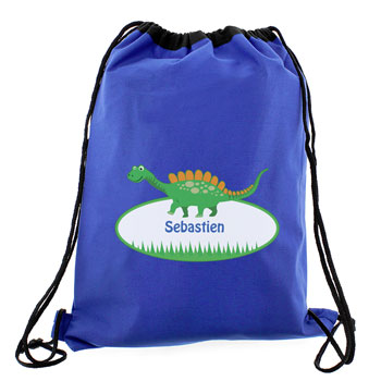 Personalised Dinosaur PE Bag Swim Bag Kit Bag