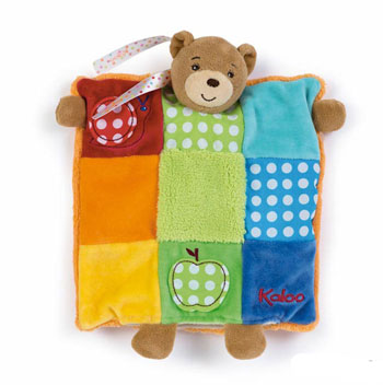 Kaloo Colours Patchwork Puppet Bear Comforter
