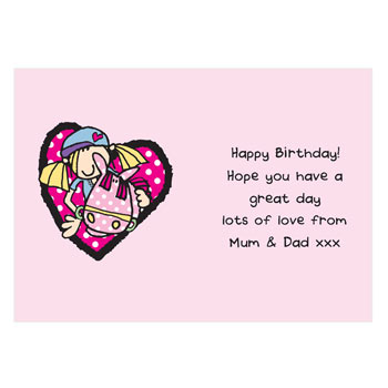 Personalised Groovy Chick Card