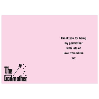 Personalised The Godmother Card Exclusive