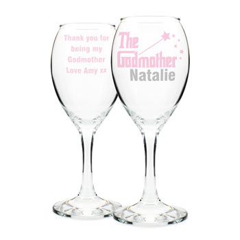 The Godmother Personalised Wine Glass Exclusive