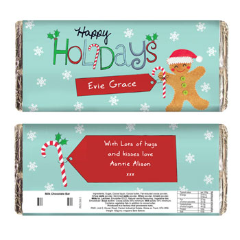 Personalised Happy Holidays Chocolate Bar Exclusive