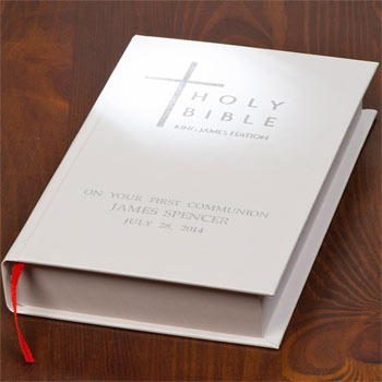 White Personalised Bible King James Version