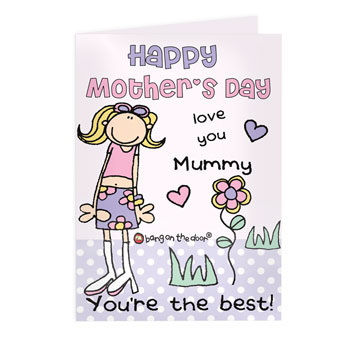 Personalised Bang On The Door Mothers Day Card Free Delivery