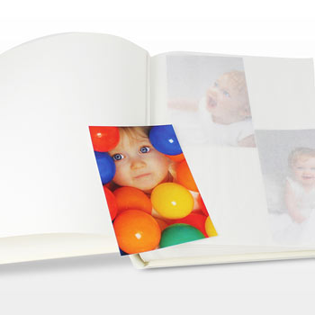 Personalised Blue ABC Traditional Photo Album Interleaved