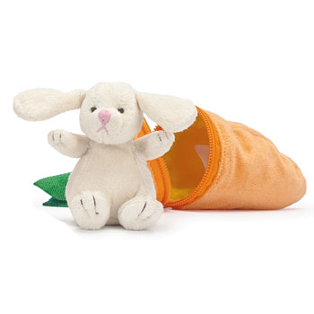 Rabbit in a Carrot Toy by Teddykompaniet