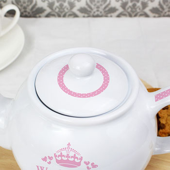 Pink Worlds Best Teapot Mum Grandmother Godmother etc