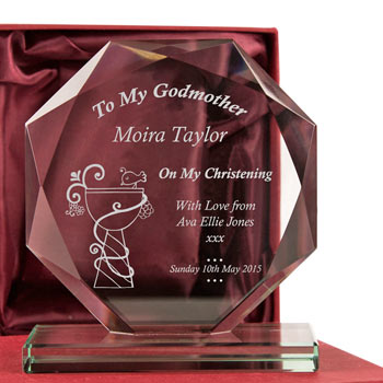 Engraved My Godmother Cut Glass Award