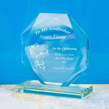 Engraved To My Godfather Cut Glass Award