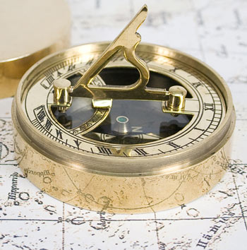 Personalised Adventurers Brass Sundial and Compass