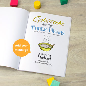 Goldilocks and the Three Bears Personalised Book