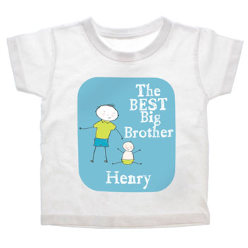 The Best Big Brother Personalised T Shirt