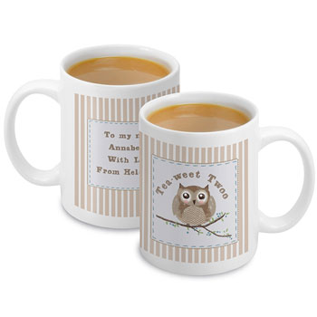 Personalised Woodland Owl Mug