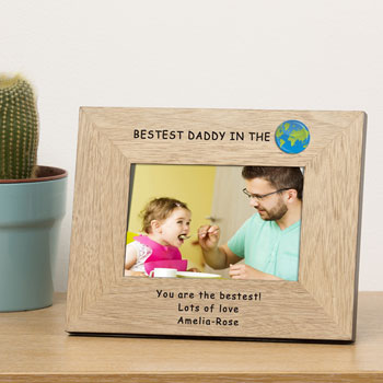 Personalised Bestest Daddy in the World Frame 7x5 Inch