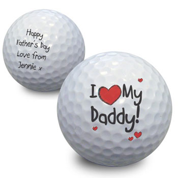 I Heart My Daddy Personalised Golf Ball