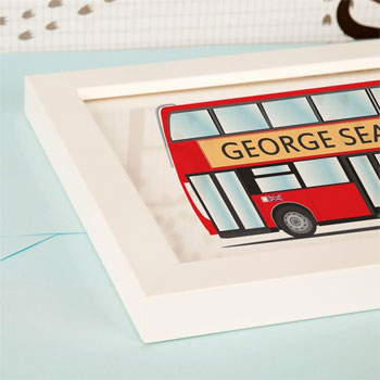 Large London Bus Personalised Framed Print