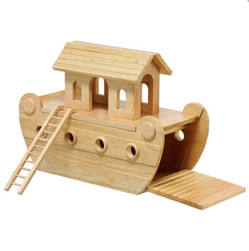 Lanka Kade Giant Wooden Noahs Ark With Colourful Characters