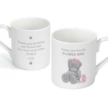 Personalised Me To You Girls Wedding Mug
