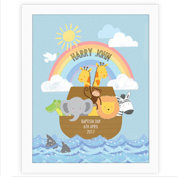Personalised Noahs Ark Poster Frame Exclusive
