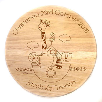 Noahs Ark Personalised Engraved Wooden Stool
