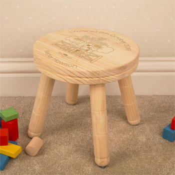 Farmyard Personalised Engraved Wooden Stool