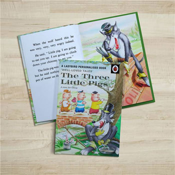 Personalised The Three Little Pigs Ladybird Book