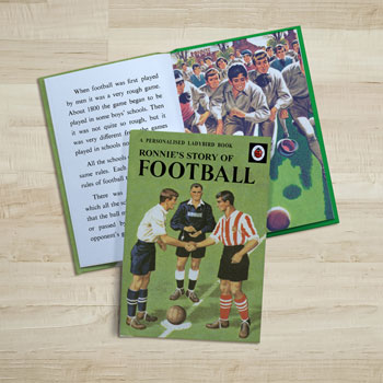 Personalised Football Ladybird Book