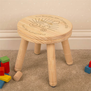 Boys First Birthday Personalised Tractor Stool